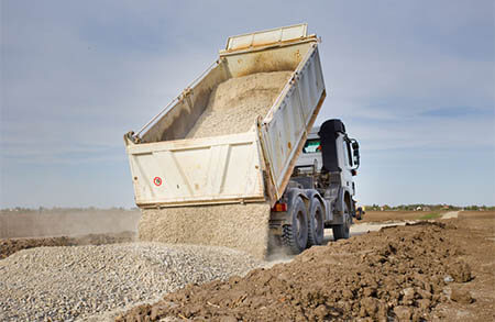Gravel Delivery Wallace Trucking